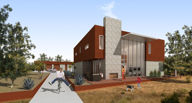 Box House contemporary-rendering