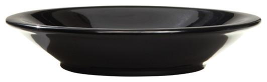 Decolav Obsidian Round Resin Lavatory contemporary-bathroom-sinks