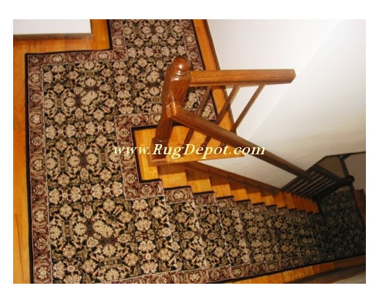 Custom Stair Runners - Couristan Himalaya Collection 6259-2000 This Runner was made at our store using the customers templates. We did all the work. All the Internet customer had to do was install it (Staple Down). The Rug Depot Can do anything! www.rugdepot.com