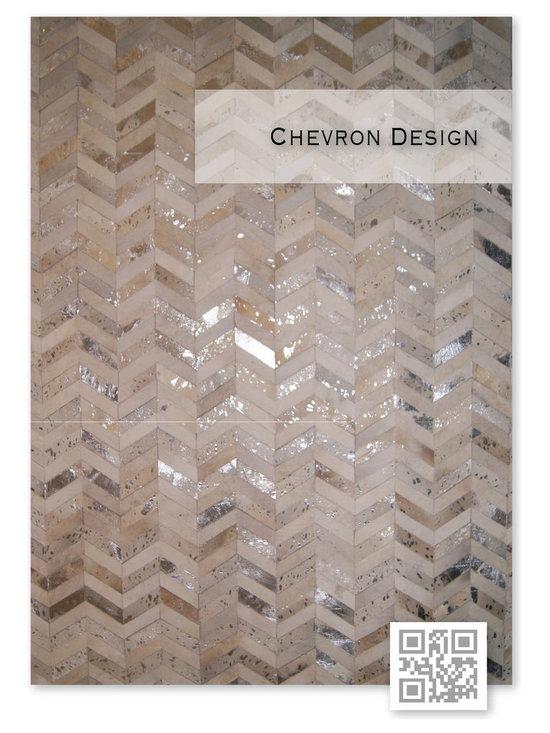 | Luxury Hide Patchwork Rugs ~ Chevron Design - Kaymanta