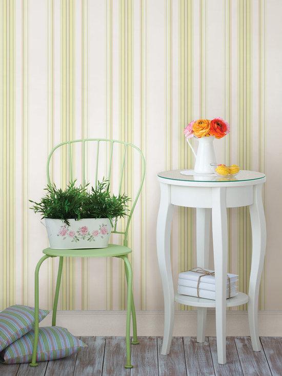 Lenna Yellow Jasmine Stripe Brewster Wallpaper -