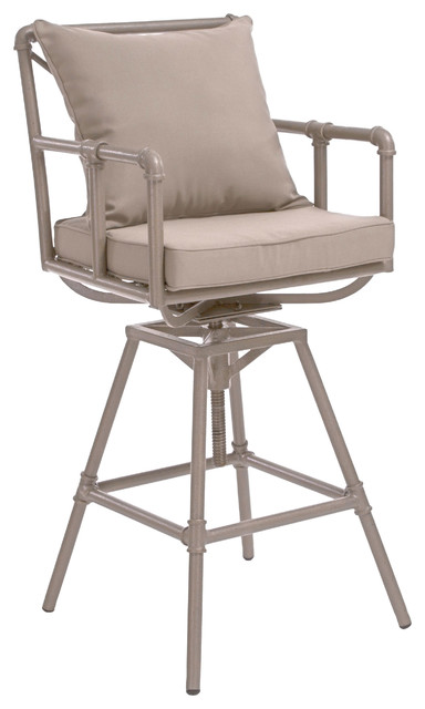 Piepes Outdoor Adjustable Height Swivel Barstool contemporary-outdoor-lounge-chairs