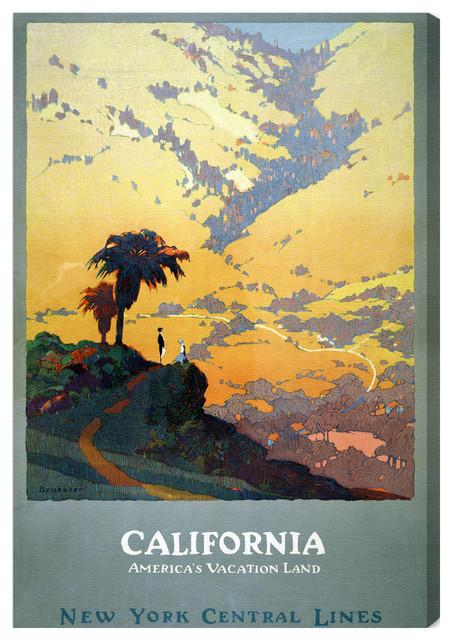 'California Vacation Land' Fine Art Canvas modern-artwork