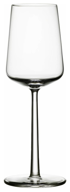 Essence White, Set of 2, 11.25 Oz. Clear contemporary-wine-glasses