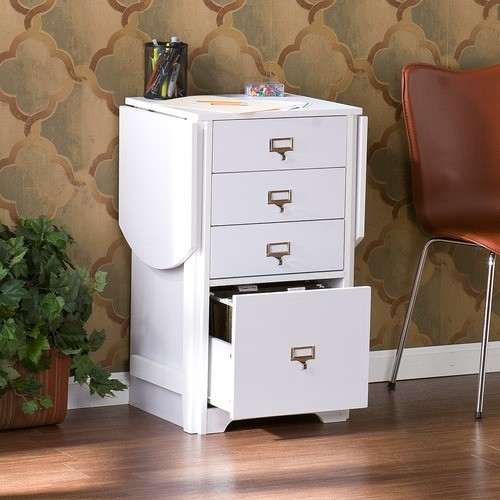 Kirnwood Fold-Out Organizer and Craft Computer Desk - Modern - Filing Cabinets