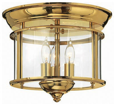 Hinkley Lighting 3473PB Gentry Polished Brass Flush Mount traditional-flush-mount-ceiling-lighting