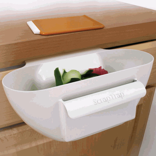 Scrap Trap Bin And Scraper contemporary kitchen tools