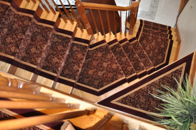 Custom Stair & Hall Runners traditional-staircase