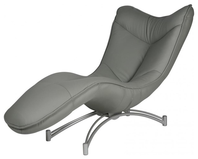 Modern chaise in gray contemporary indoor chaise - Designer chaise lounge chairs ...