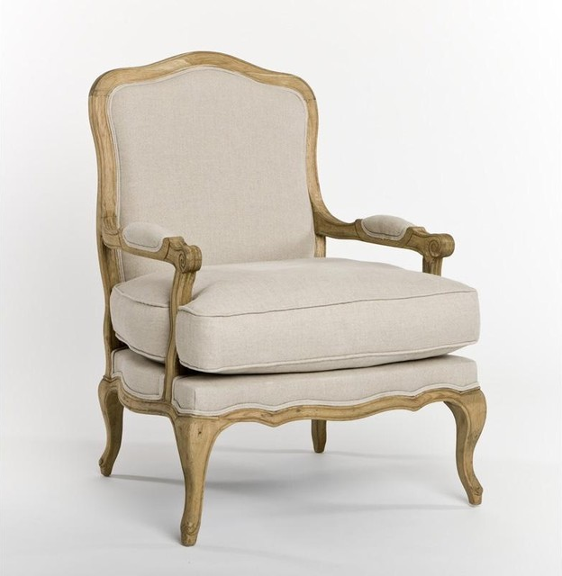 Zentique Bastille Lounge Chair - traditional - armchairs - by