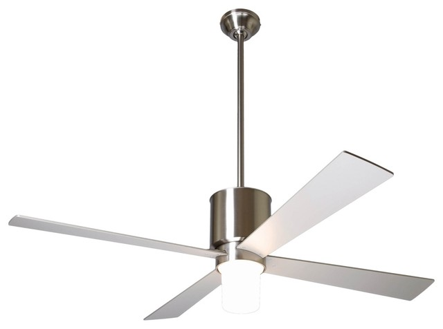 52 Modern Fan Lapa Bright Nickel With Light Ceiling Contemporary Fans By Euro