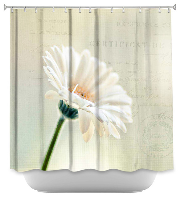 ... Artistic Daisy - Contemporary - Shower Curtains - by DiaNoche Designs