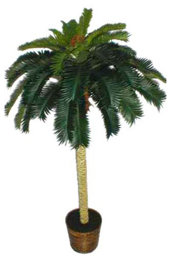 6 Tropical Cycas Palm Tree Asian Artificial Flowers
