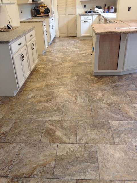 Luxury vinyl traditional kitchen sacramento by for Vinyl floor ideas for kitchen