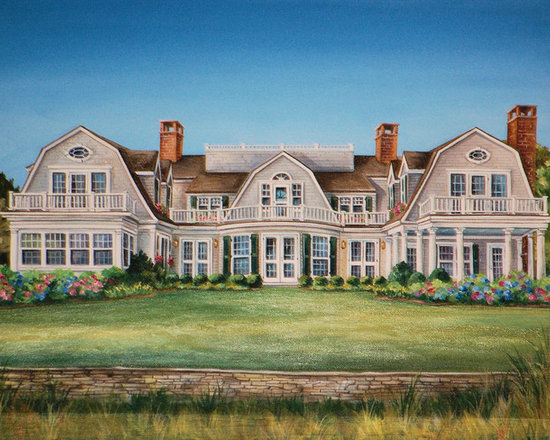 Architectural House Portraits - Architectural House Portraits by Renee' MacMurray