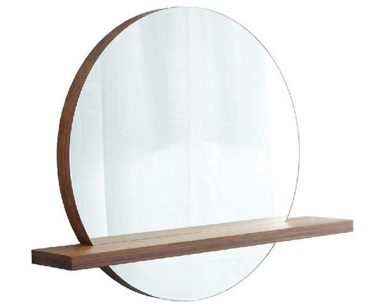 Native Trails - Solace Mirror With Woven Strand Shelf - *Handcrafted solid Woven Strand bamboo