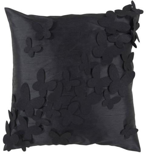 Butterfly Applique 18 x 18 Pillow modern-decorative-pillows
