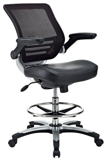 Edge Drafting Chair In Black Modern Office Chairs By