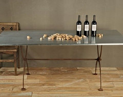 Bobo Intriguing Objects Folding Zinc Table eclectic-dining-tables
