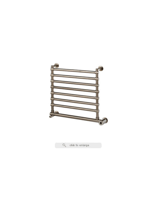 Mr. Steam - Mr. Steam W562 Electric Hardwired Heated Towel Warmer - Mr. Steam® Series 500+ Towel Warmers feature the highest quality 100% solid brass construction for durable designer finishes, efficient heating and lifetime reliability. All Towel Warmers feature a stainless steel heater for controlled, quiet operation. All Series 500+Towel Warmers are cULus Listed and operate on 120V. Dimensions are approximate.