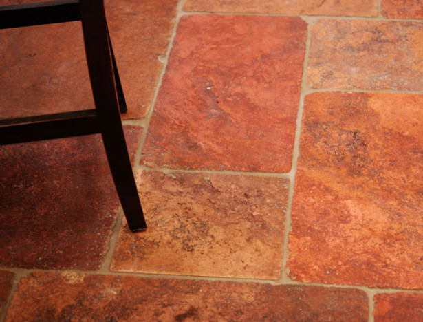 French Pavers Stone Floors Mediterranean Wall And