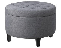 Emma Tufted Storage Ottoman, Charcoal modern-ottomans-and-cubes