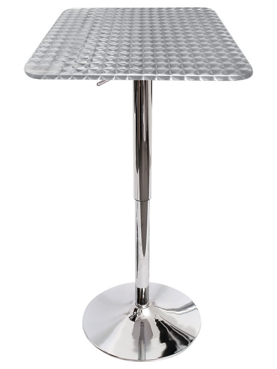 Bristro Bar Table Square - CHROME SWIRL