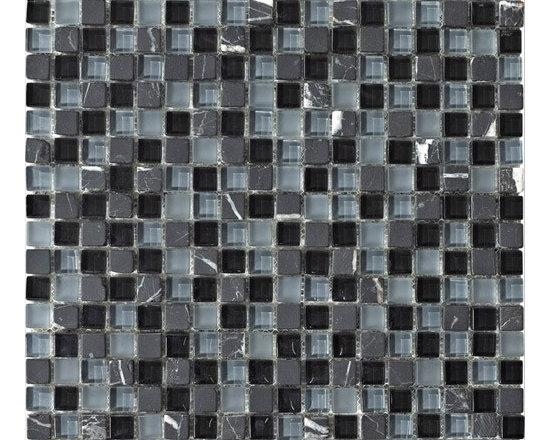 "Stone Medley | Black Marquina (5/8"" x 5/8"") -"