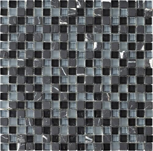 "Stone Medley | Black Marquina (5/8"" x 5/8"") tile"