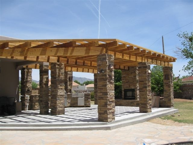 Pergola and outdoor grilling