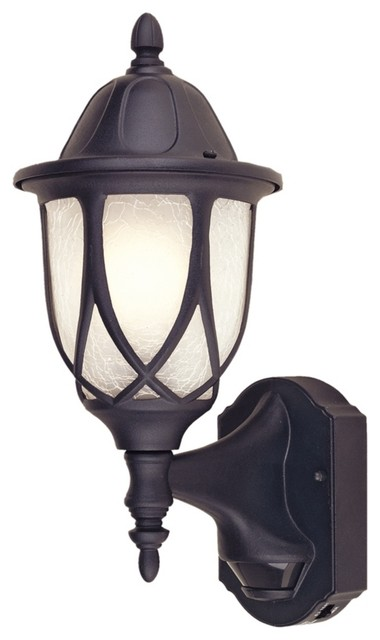 "Traditional Capella Motion Sensor 15 1/2"" High Black Outdoor Wall"