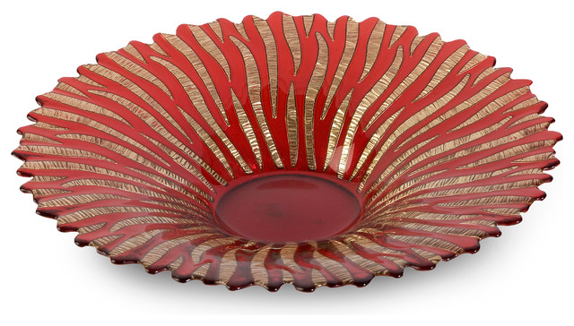 Ruby Glass Bowl contemporary-dining-bowls