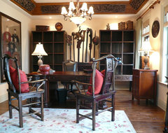 Design Project - Mountain Forest Meadow View - Shanghai China - Green Antiques asian-home-office