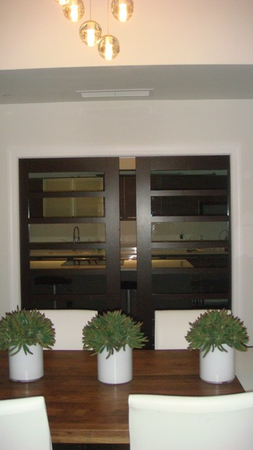 Contemporary Wood Kitchen Sliding Doors contemporary 