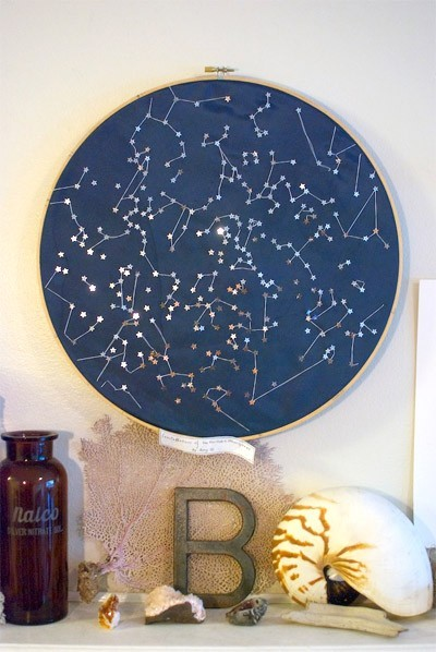 Constellations of the Northern Hemisphere Wall Hanging by Little Bright Studio eclectic artwork
