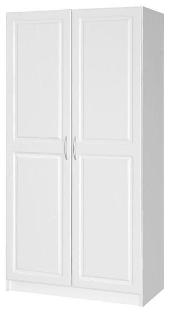 Hampton Bay Closet Organization Select MDF Storage Cabinet in White THD337311.1a - Contemporary ...