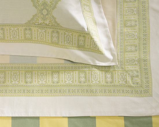 ANICHINI Persia Sheets - Only ANICHINI would create bedding like this! The Persia design was added to the sheeting collection in 2005 and has become one of the most highly recognizable of all ANICHINI designs.