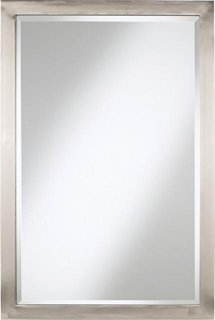 "Possini Euro Metzeo 33"" High Rectangular Metal Mirror"