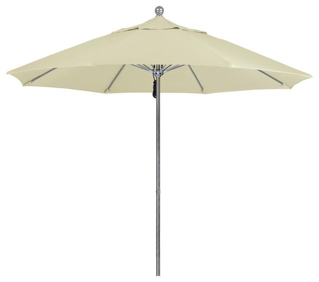 9 Foot Sunbrella Fabric Aluminum Pulley Lift Patio Market