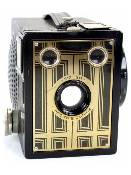 Steampunk Wireless Bluetooth Speaker-Kodak Brownie Target Six-20 Camera, Golden - If you like the latest technology and vintage design – this intriguing design piece is for you.