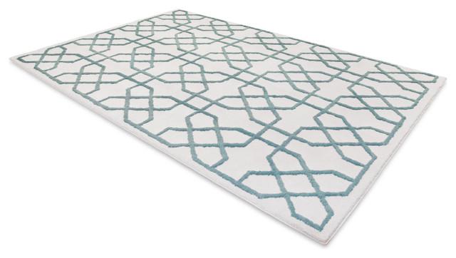 Bombay Rug in Teal Mendocino rugs