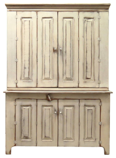 """White 55"""" Fairfield TV Cabinet eclectic-storage-cabinets"""