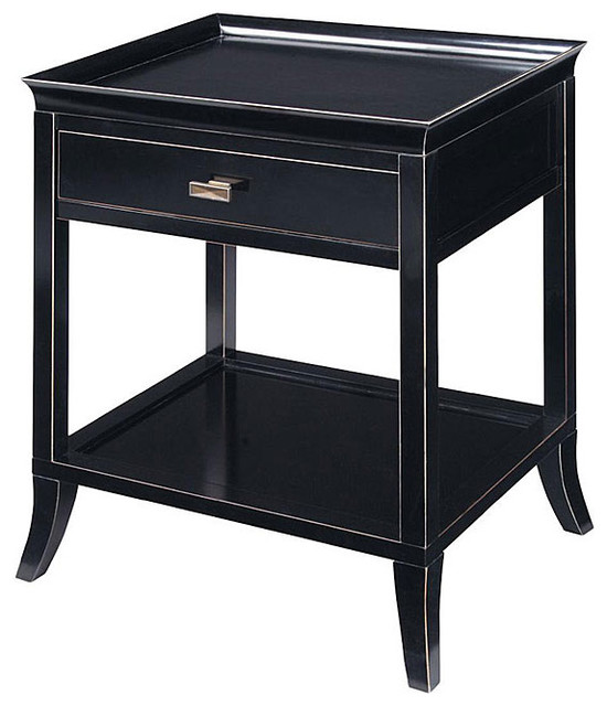 onyx finish serving tray accent table contemporary