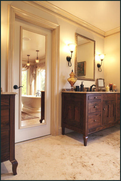 French Chateau Retreat traditional bathroom