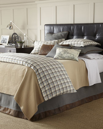 "Twin Plaid Duvet Cover, 65"" x 86"" traditional-duvet-covers-and-duvet-sets"