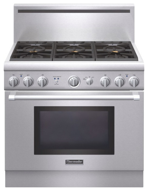 """Thermador 36"""" Pro Harmony Gas Range, Stainless Steel Natural Gas 
