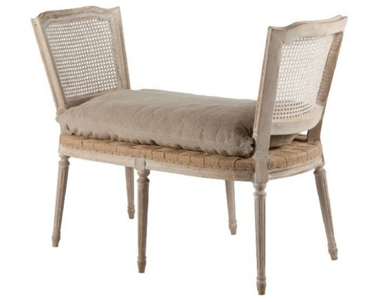 Shabby Chic Sale ~ Sale Ends Friday Febuary 15th - Ethan Bench in Hemp