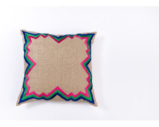 "Pillows - Luxurious colors and chevron twisted pattern give this 20""X20"" Linen pillow a touch of decedence."