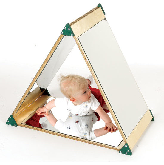 Mirror Triangle Contemporary Children S Mirrors By
