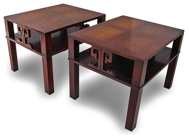 Mid-Century Asian Inspired Henredon End Side Tables midcentury-side-tables-and-end-tables